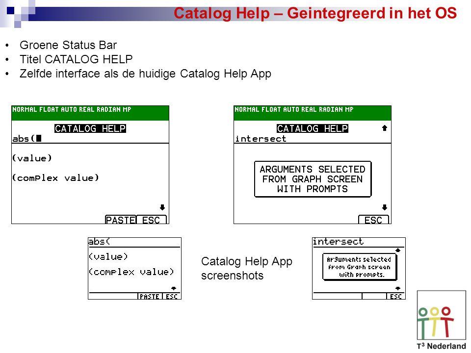 Catalog Help – Geintegreerd in het OS