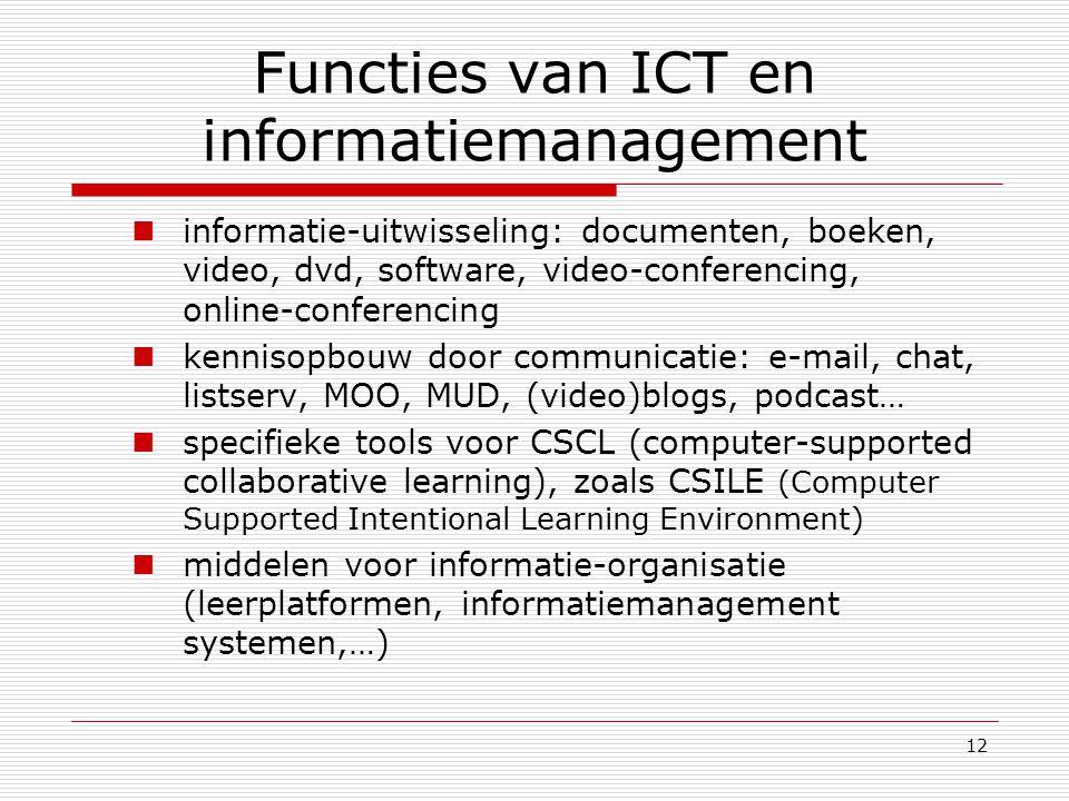 Functies van ICT en informatiemanagement
