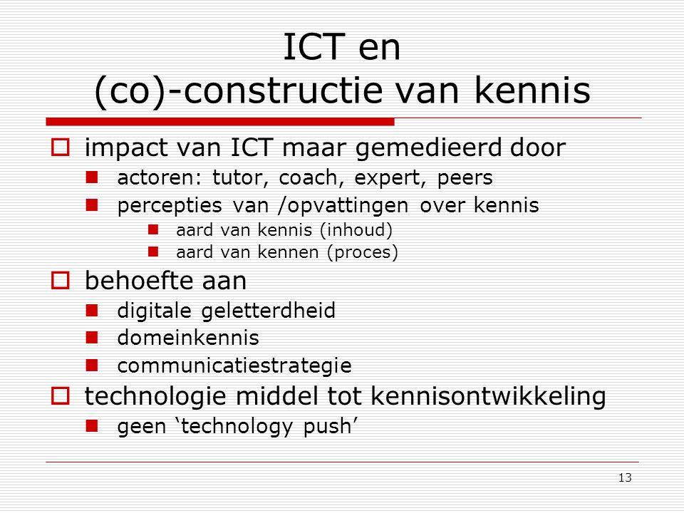ICT en (co)-constructie van kennis