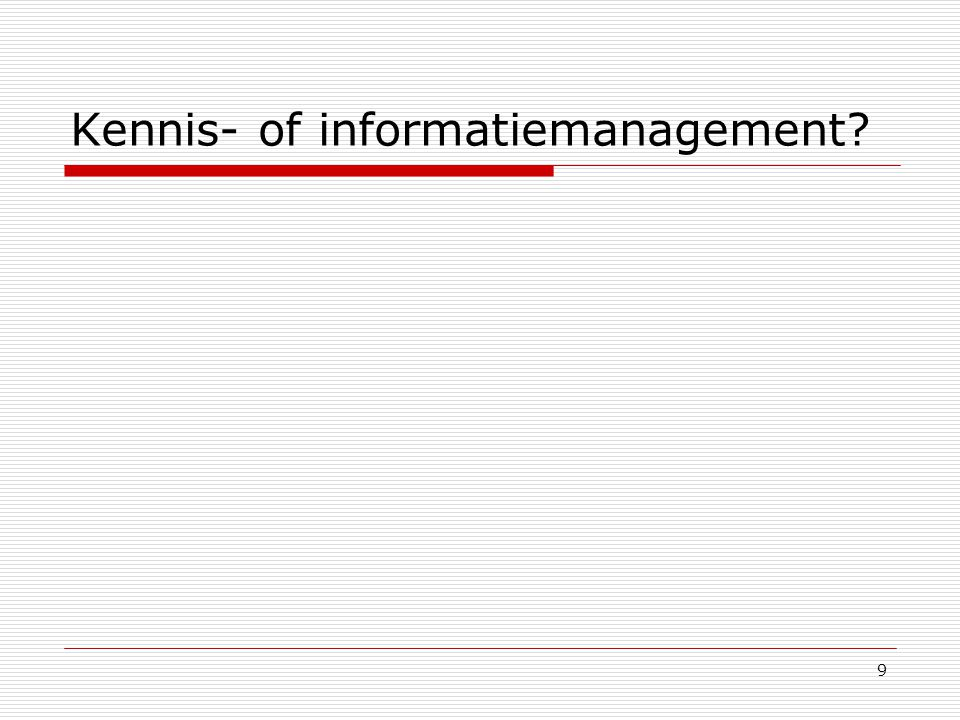 Kennis- of informatiemanagement