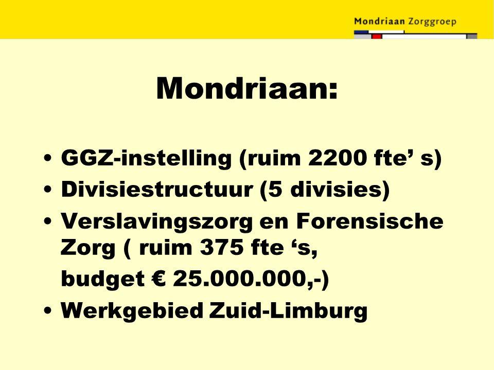 Mondriaan: GGZ-instelling (ruim 2200 fte' s)