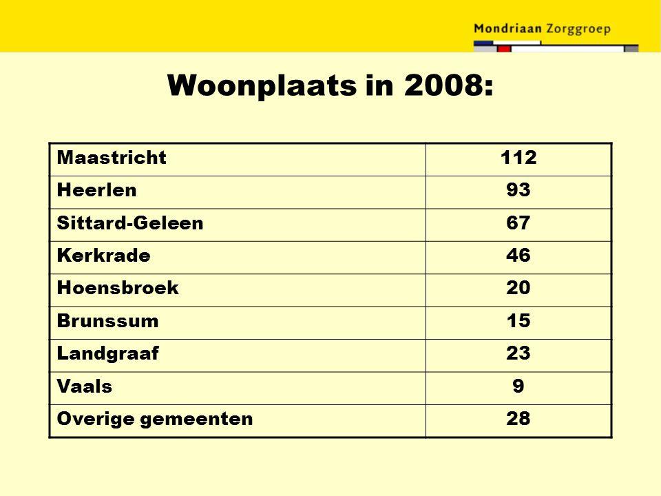 Woonplaats in 2008: Maastricht 112 Heerlen 93 Sittard-Geleen 67