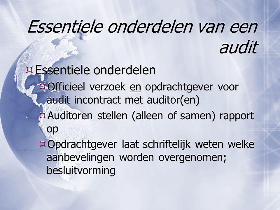 Essentiele onderdelen van een audit
