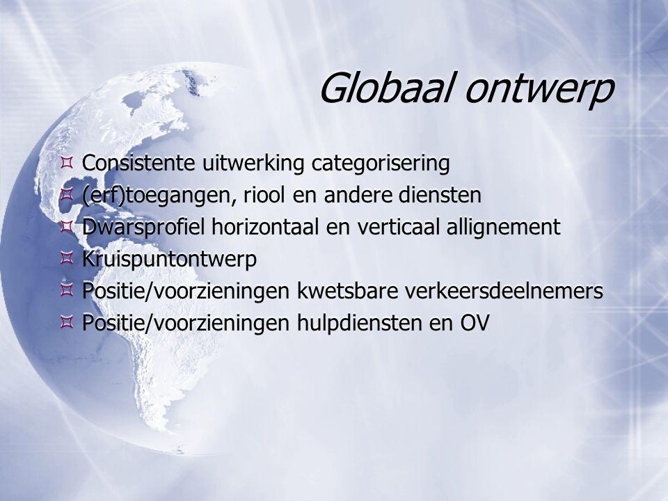 Globaal ontwerp Consistente uitwerking categorisering