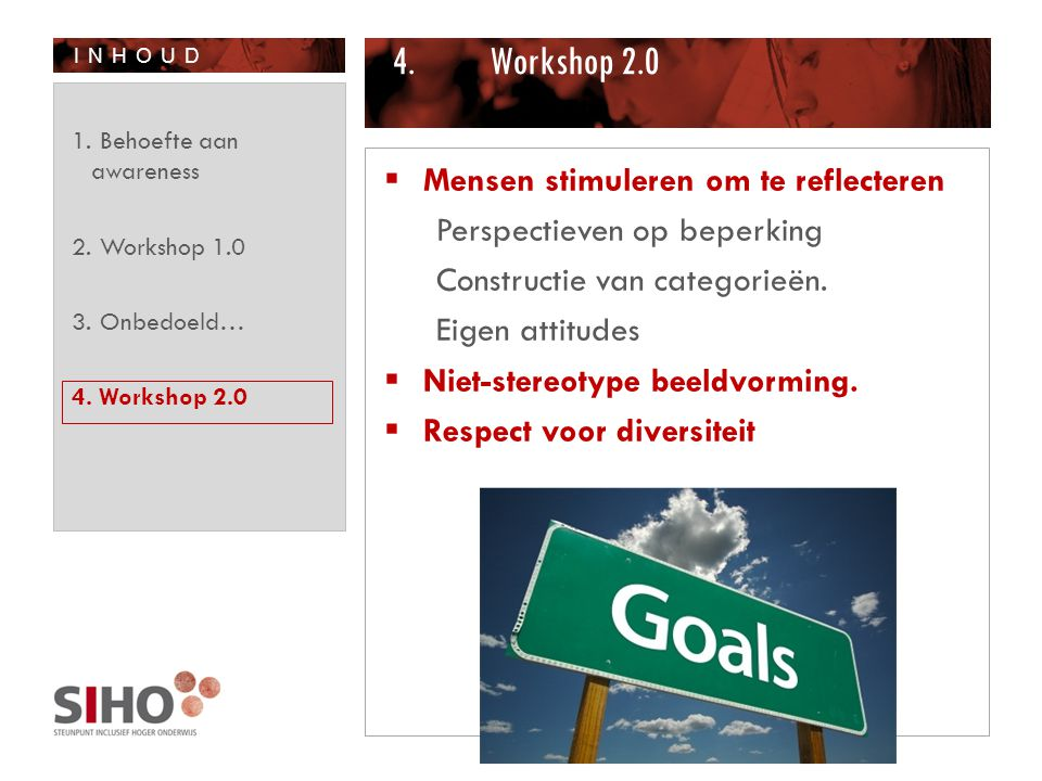 Workshop 2.0 Mensen stimuleren om te reflecteren