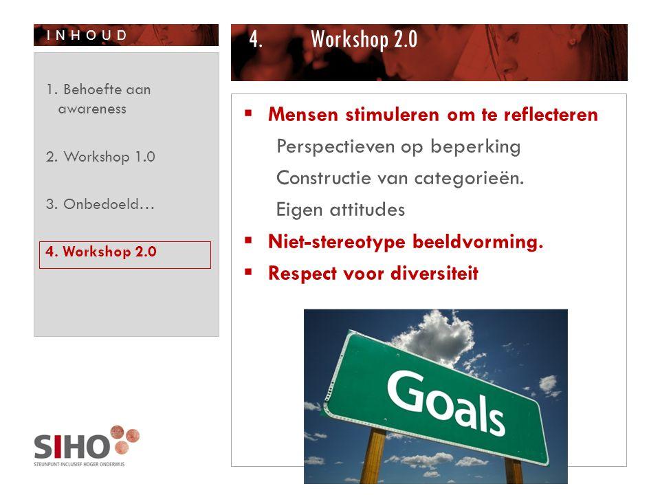 Workshop 2.0 Mensen stimuleren om te reflecteren