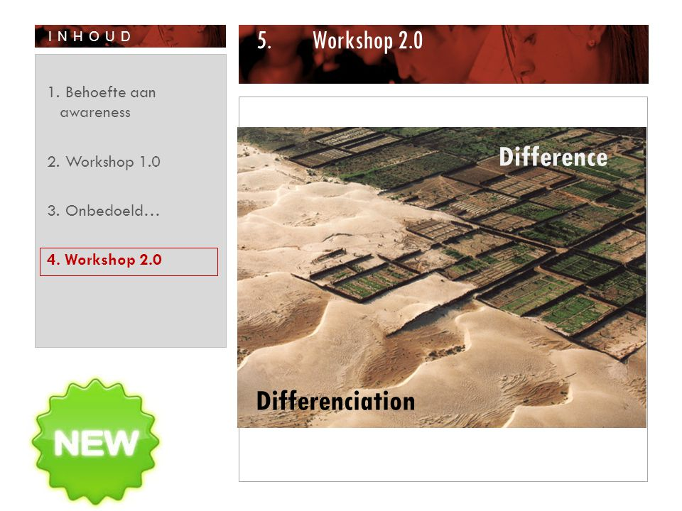Difference Differenciation Workshop 2.0 Behoefte aan awareness