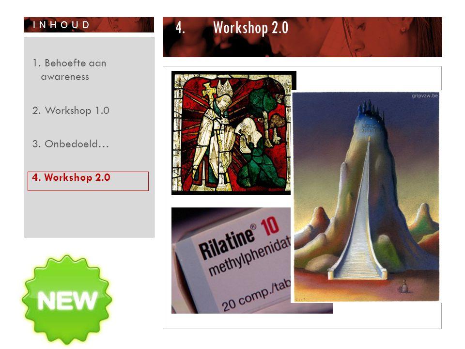 Workshop 2.0 Behoefte aan awareness Workshop 1.0 Onbedoeld…