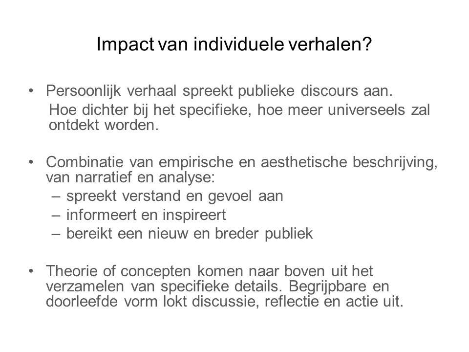 Impact van individuele verhalen