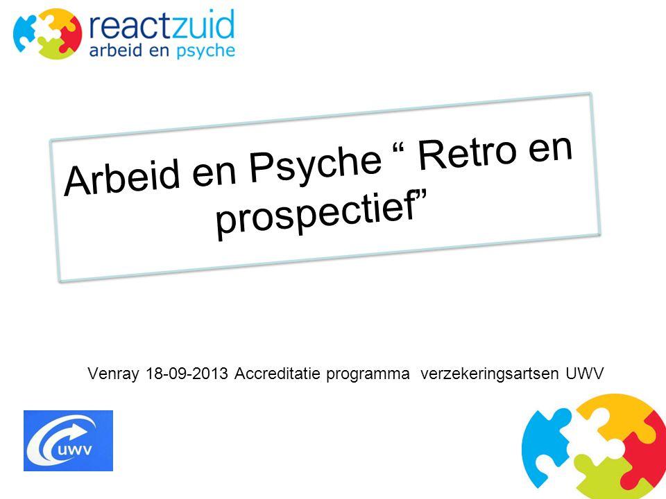 Arbeid en Psyche Retro en prospectief