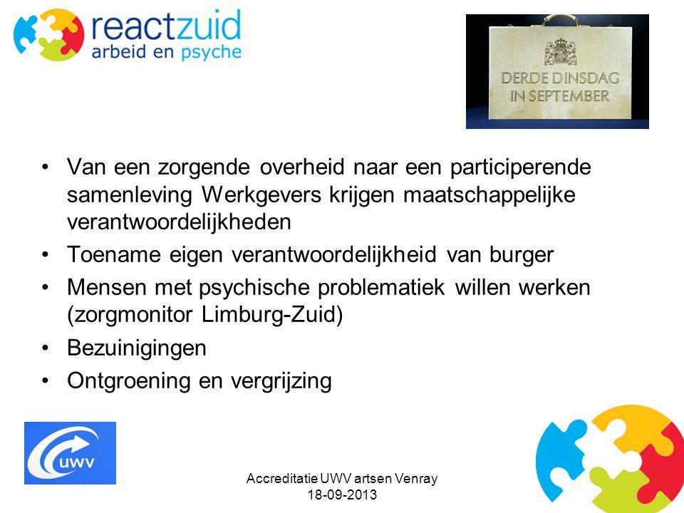 Accreditatie UWV artsen Venray 18-09-2013