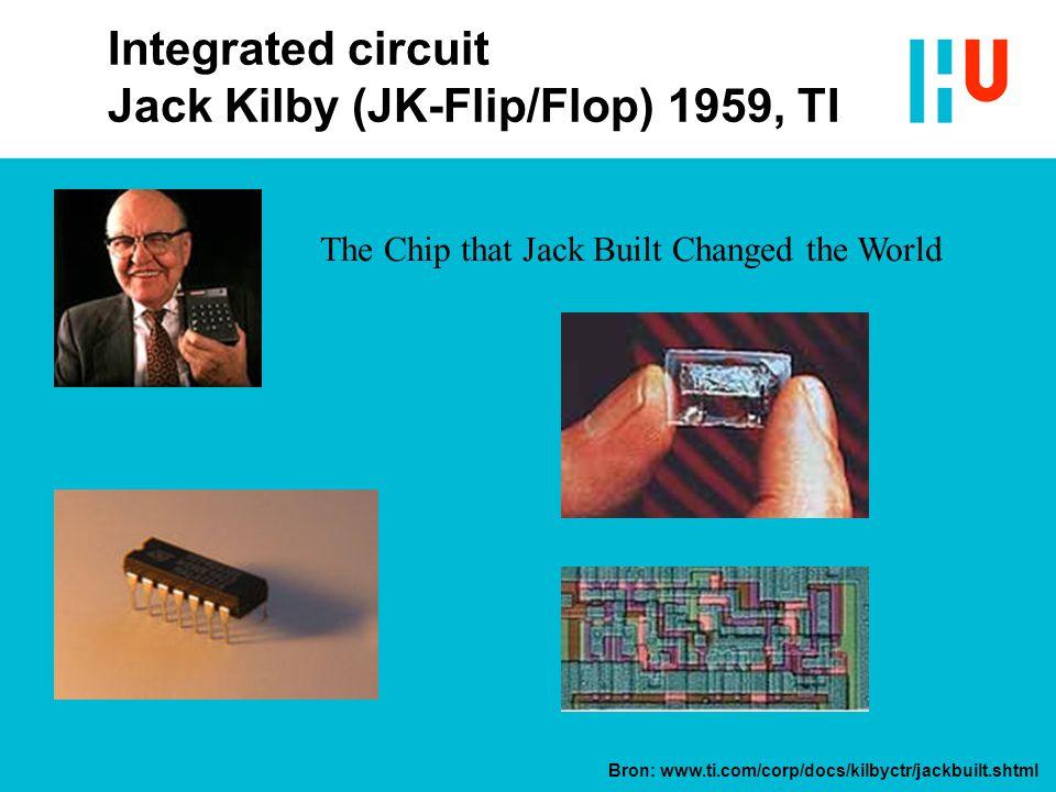Integrated circuit Jack Kilby (JK-Flip/Flop) 1959, TI