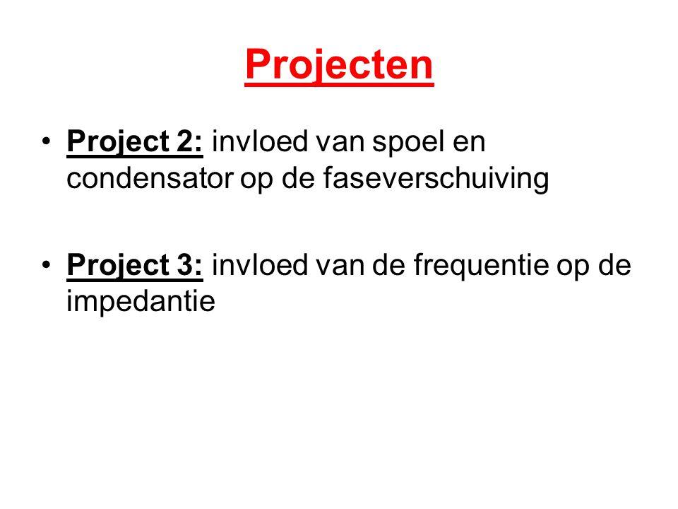 Projecten Project 2: invloed van spoel en condensator op de faseverschuiving.