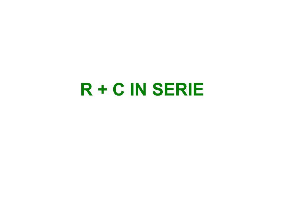 R + C IN SERIE