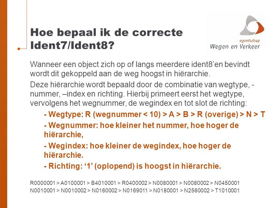 Hoe bepaal ik de correcte Ident7/Ident8