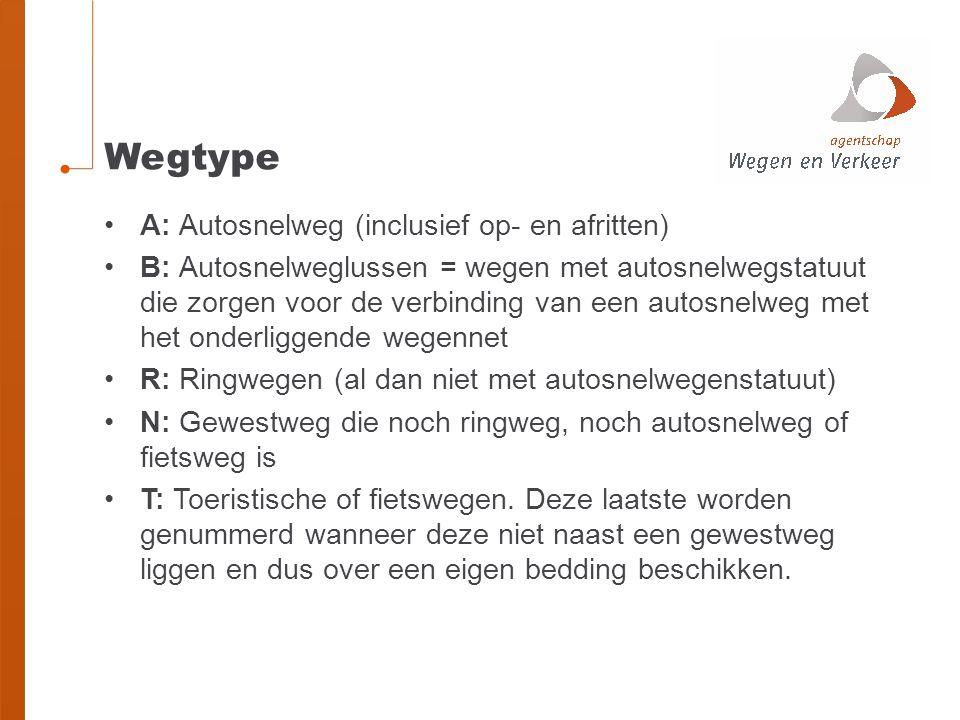 Wegtype A: Autosnelweg (inclusief op- en afritten)