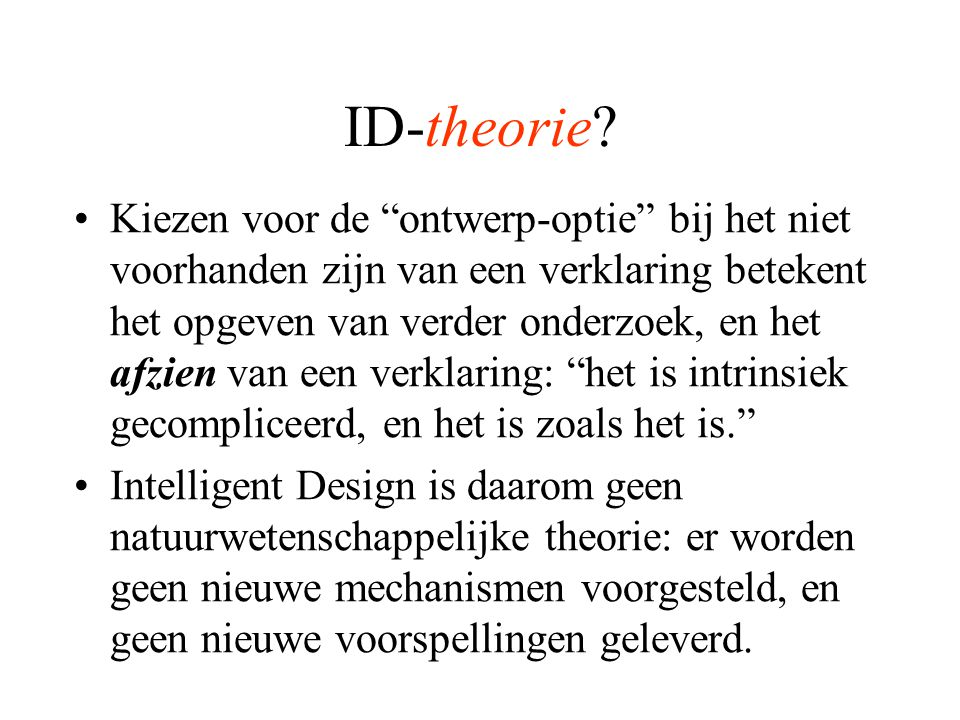ID-theorie