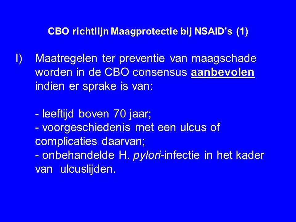CBO richtlijn Maagprotectie bij NSAID's (1)