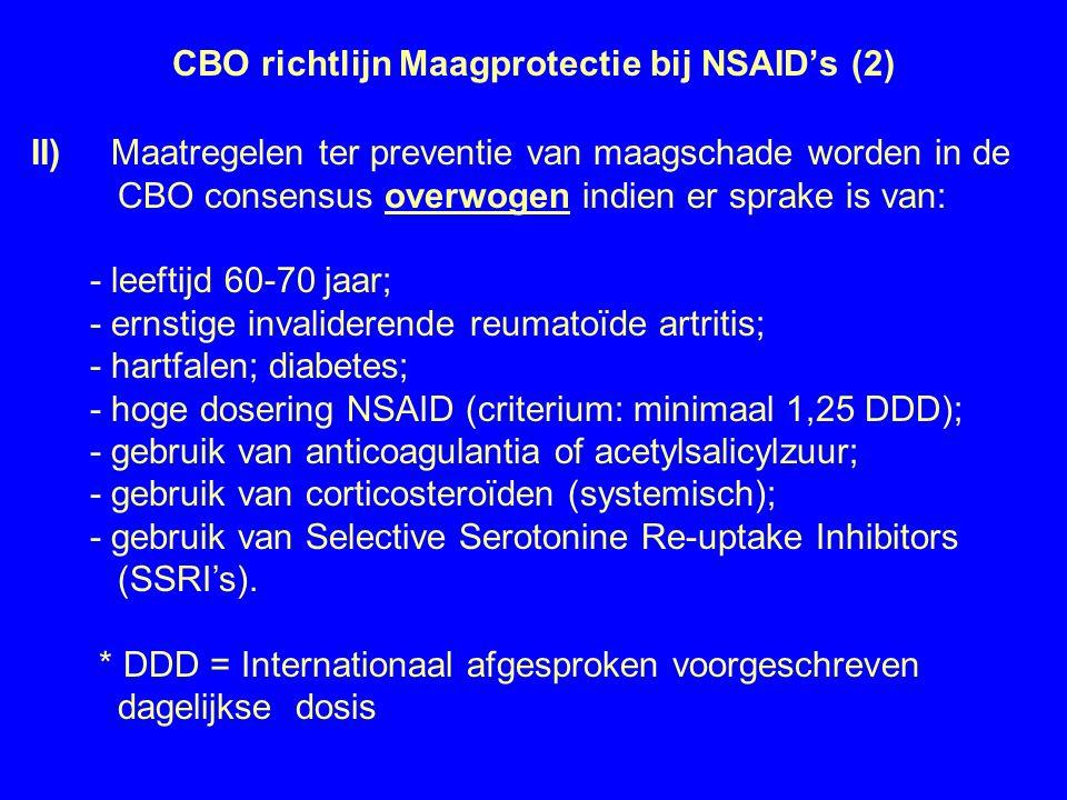 CBO richtlijn Maagprotectie bij NSAID's (2)