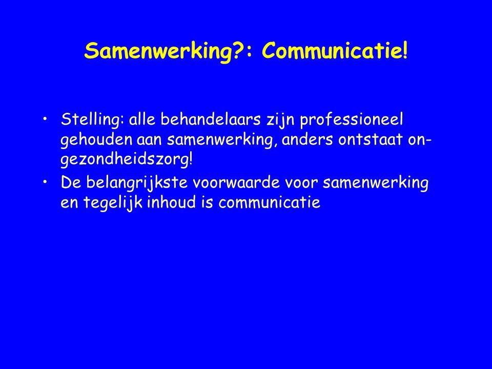 Samenwerking : Communicatie!