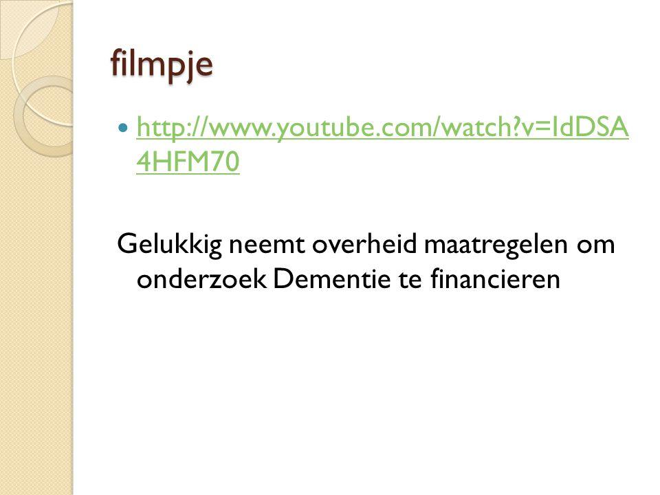 filmpje http://www.youtube.com/watch v=IdDSA 4HFM70