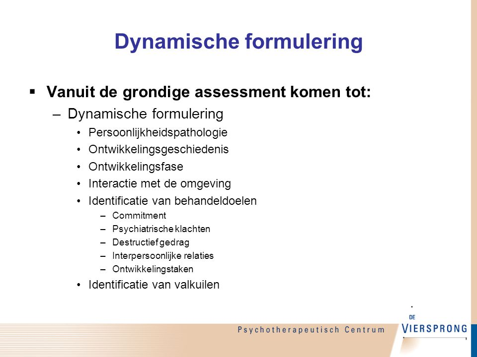 Dynamische formulering