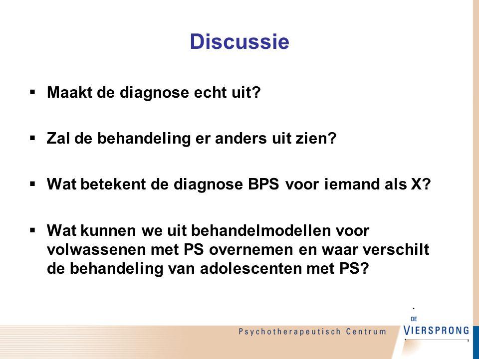 Discussie Maakt de diagnose echt uit