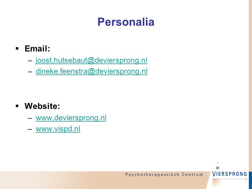 Personalia Email: Website: joost.hutsebaut@deviersprong.nl