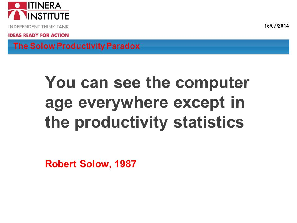 The Solow Productivity Paradox