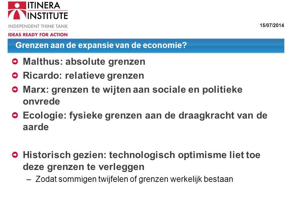 Grenzen aan de expansie van de economie