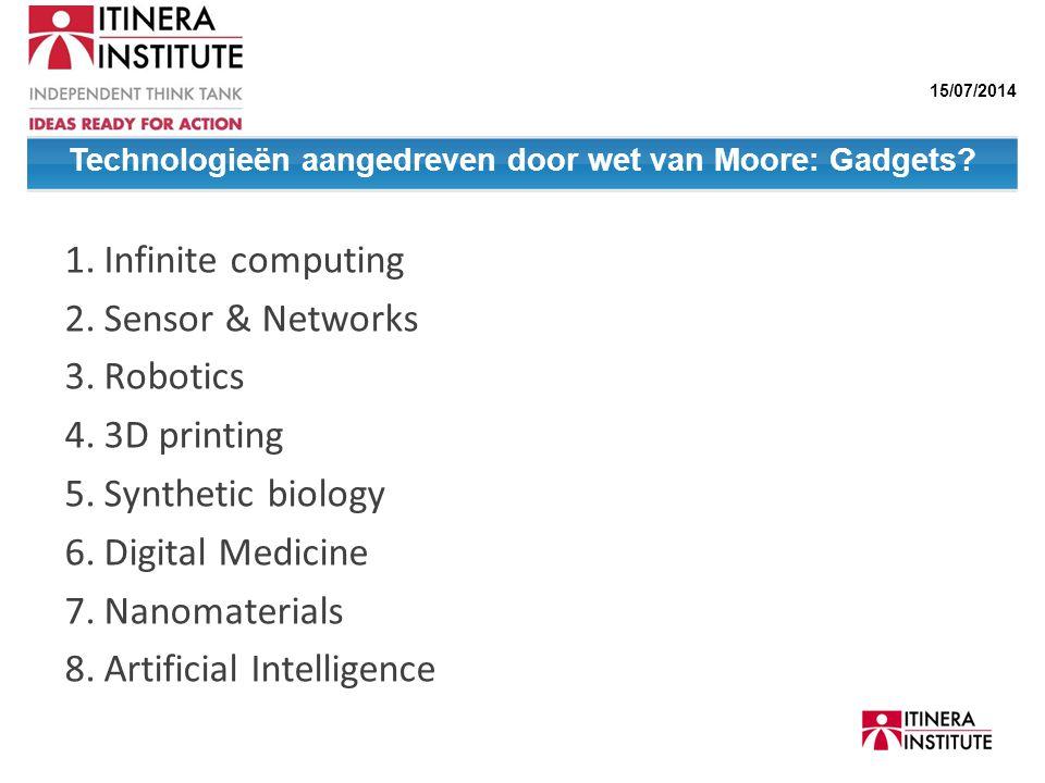 Technologieën aangedreven door wet van Moore: Gadgets