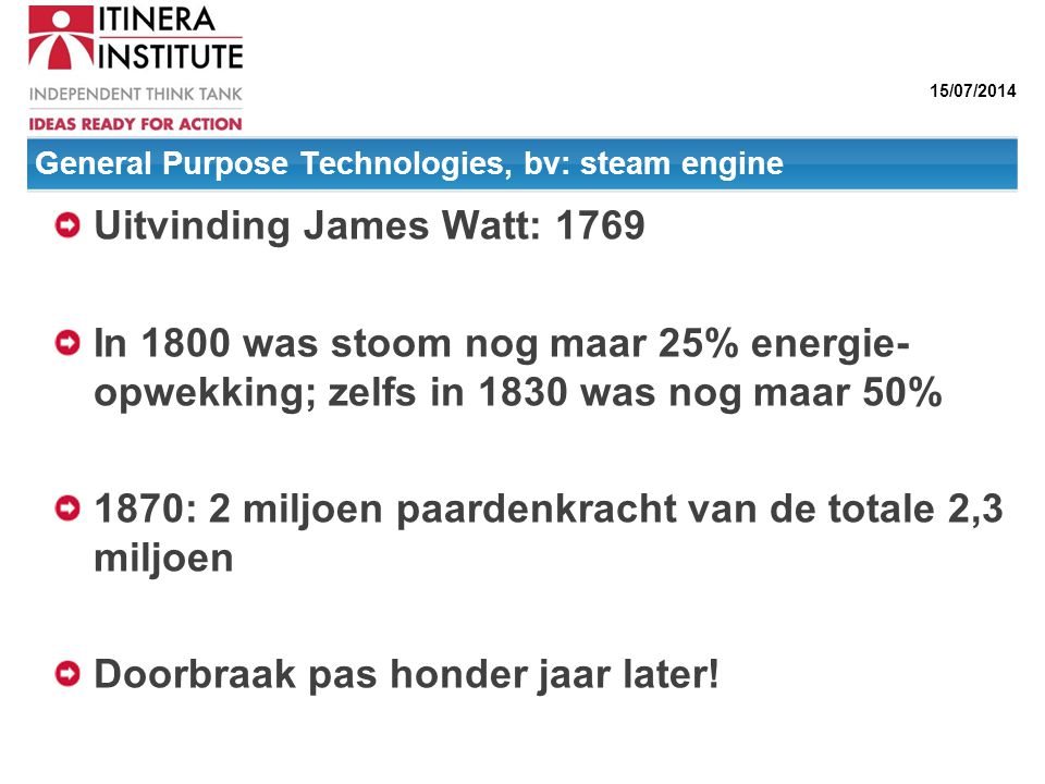 General Purpose Technologies, bv: steam engine