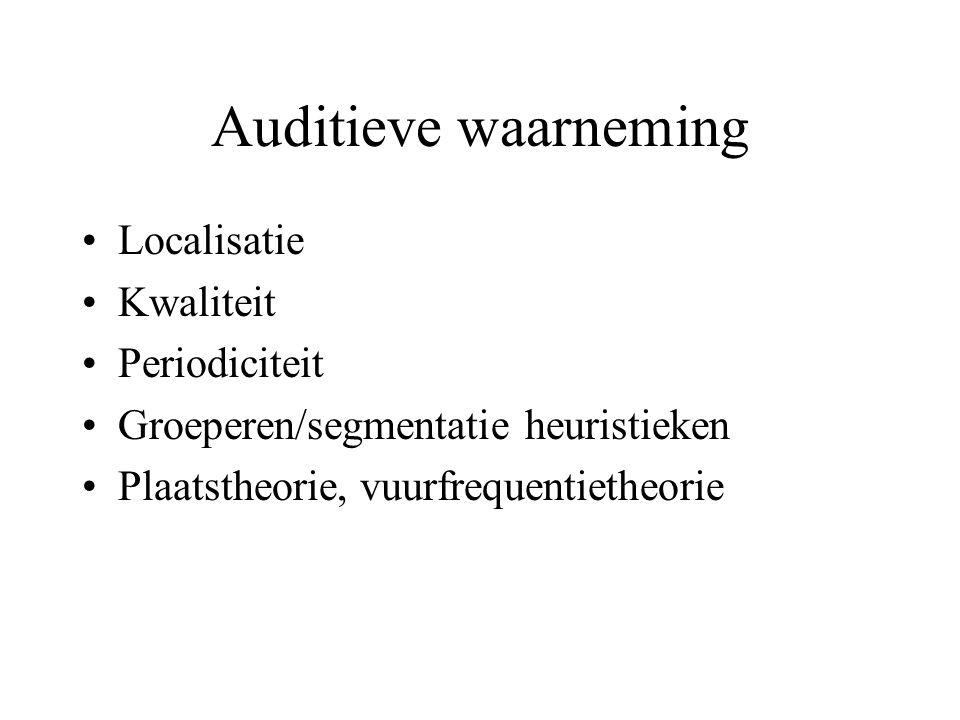 Auditieve waarneming Localisatie Kwaliteit Periodiciteit