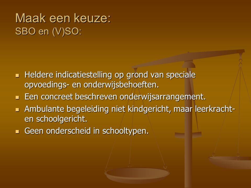 Maak een keuze: SBO en (V)SO: