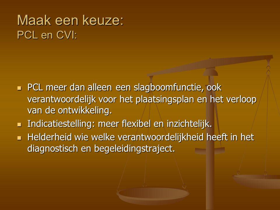 Maak een keuze: PCL en CVI: