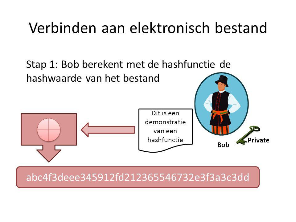 Verbinden aan elektronisch bestand