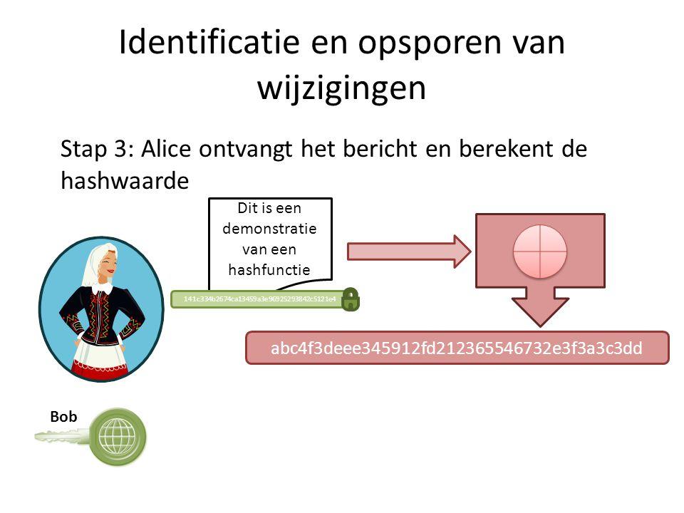 Identificatie en opsporen van wijzigingen