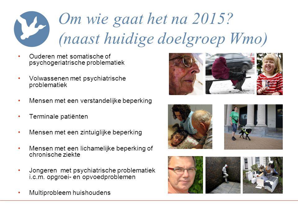 Om wie gaat het na 2015 (naast huidige doelgroep Wmo)