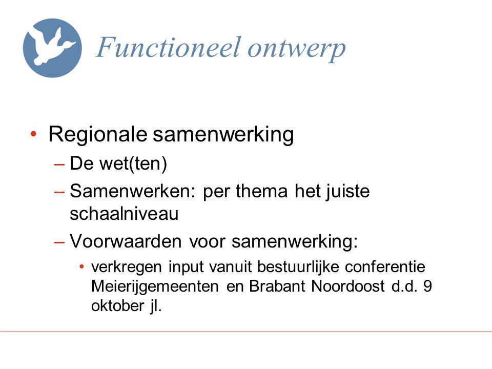 Functioneel ontwerp Regionale samenwerking De wet(ten)