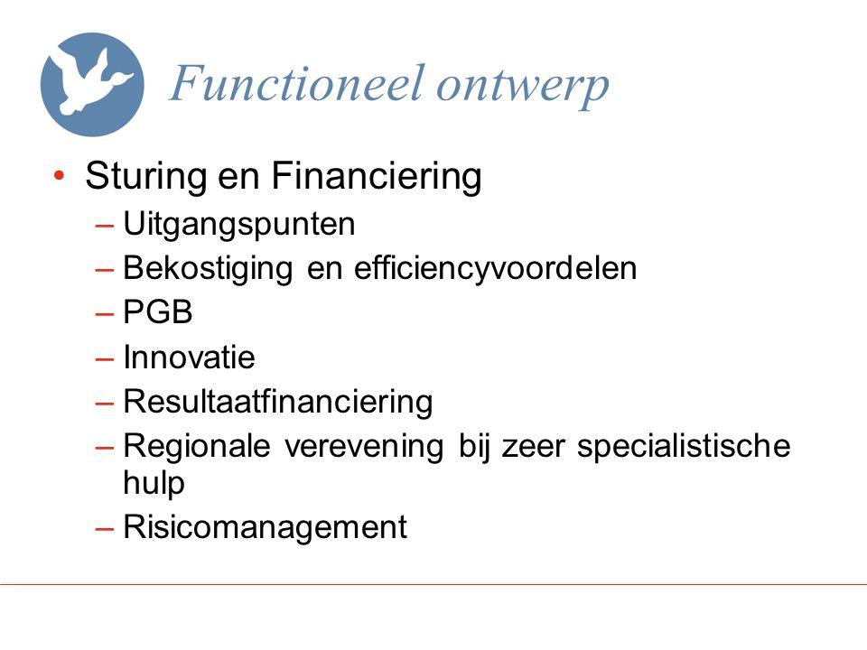Functioneel ontwerp Sturing en Financiering Uitgangspunten