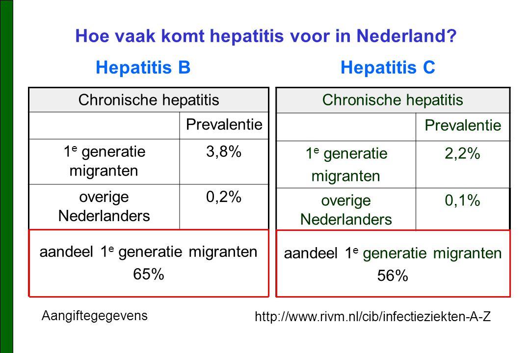 Hoe vaak komt hepatitis voor in Nederland