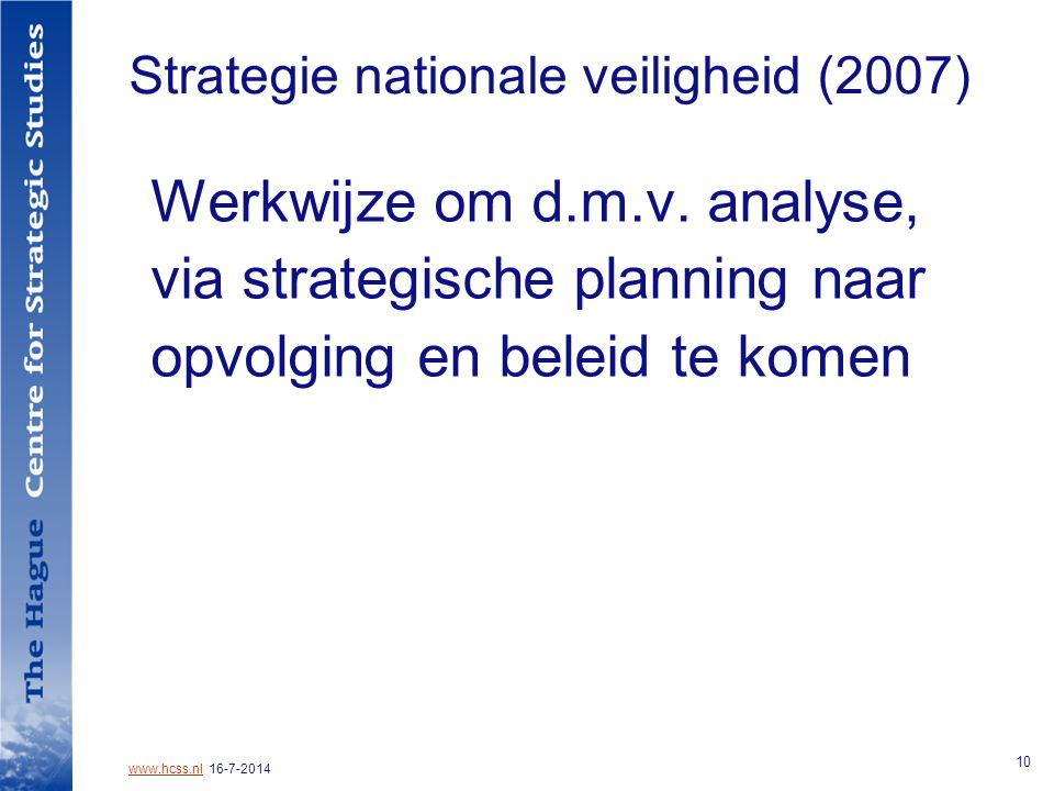 Strategie nationale veiligheid (2007)