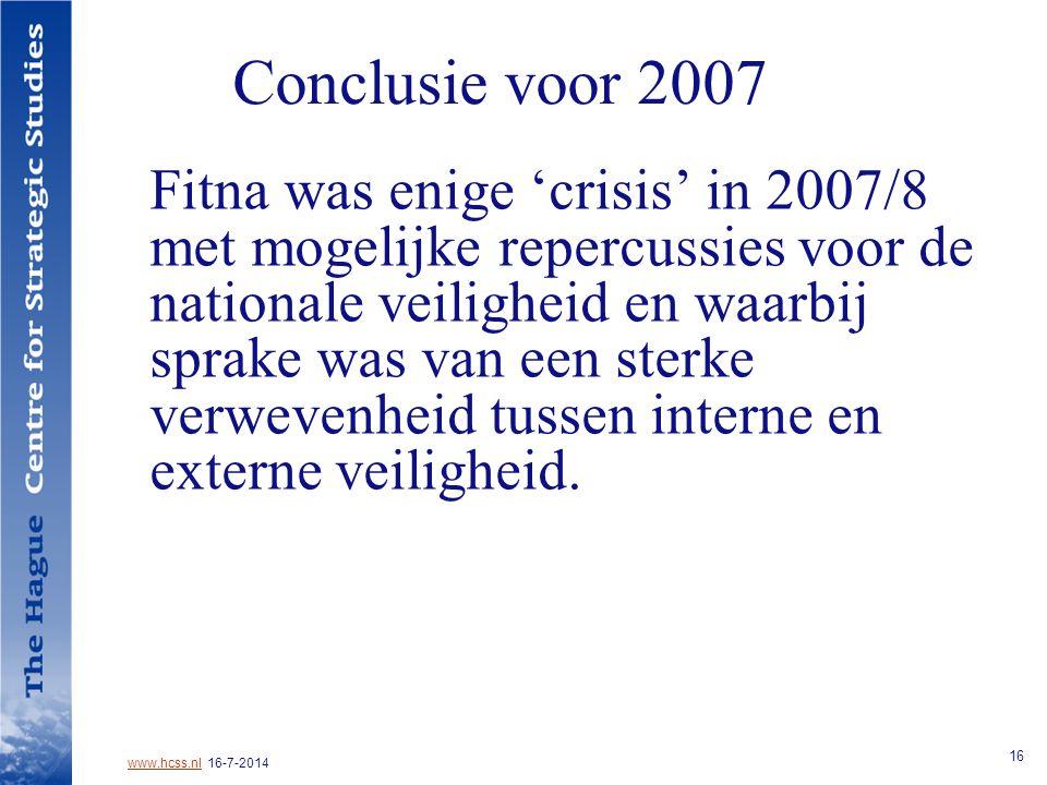 Conclusie voor 2007