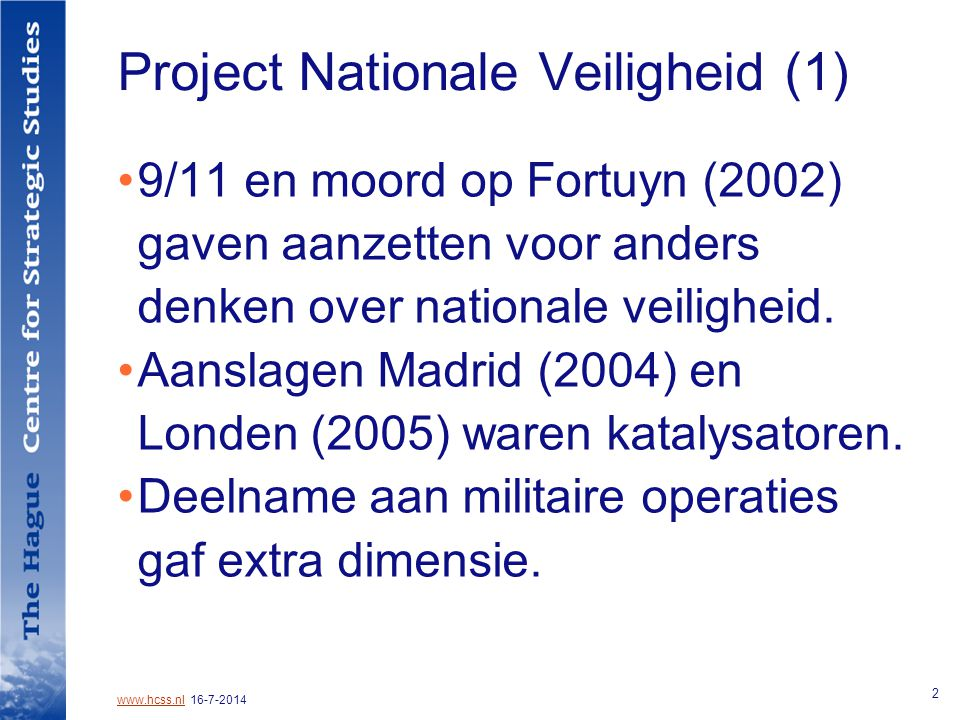 Project Nationale Veiligheid (1)