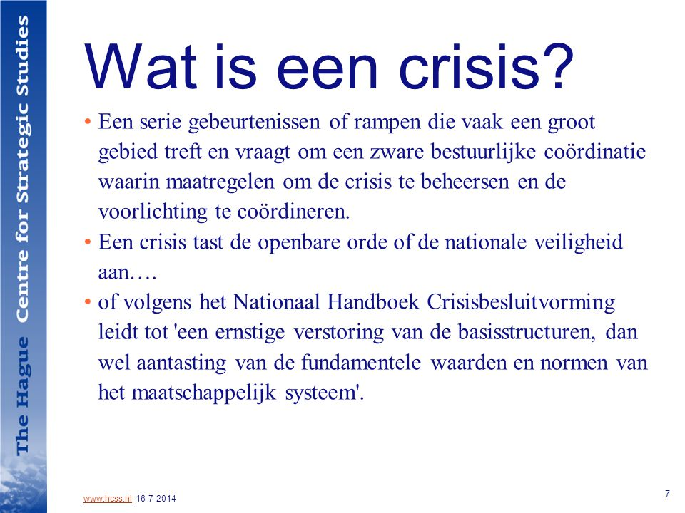 Wat is een crisis