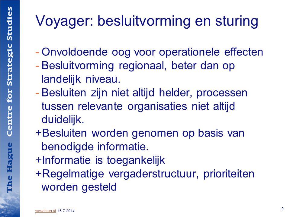 Voyager: besluitvorming en sturing