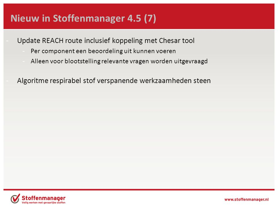 Nieuw in Stoffenmanager 4.5 (7)