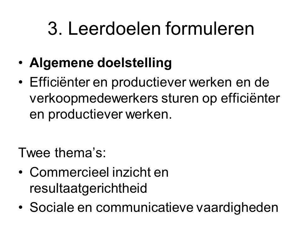 3. Leerdoelen formuleren