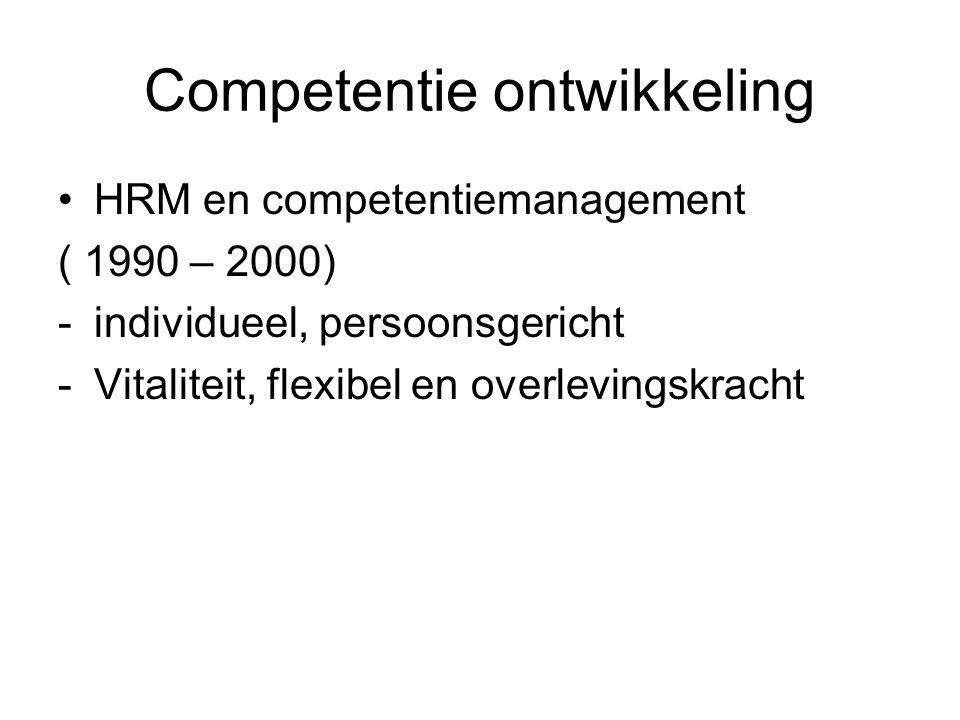 Competentie ontwikkeling
