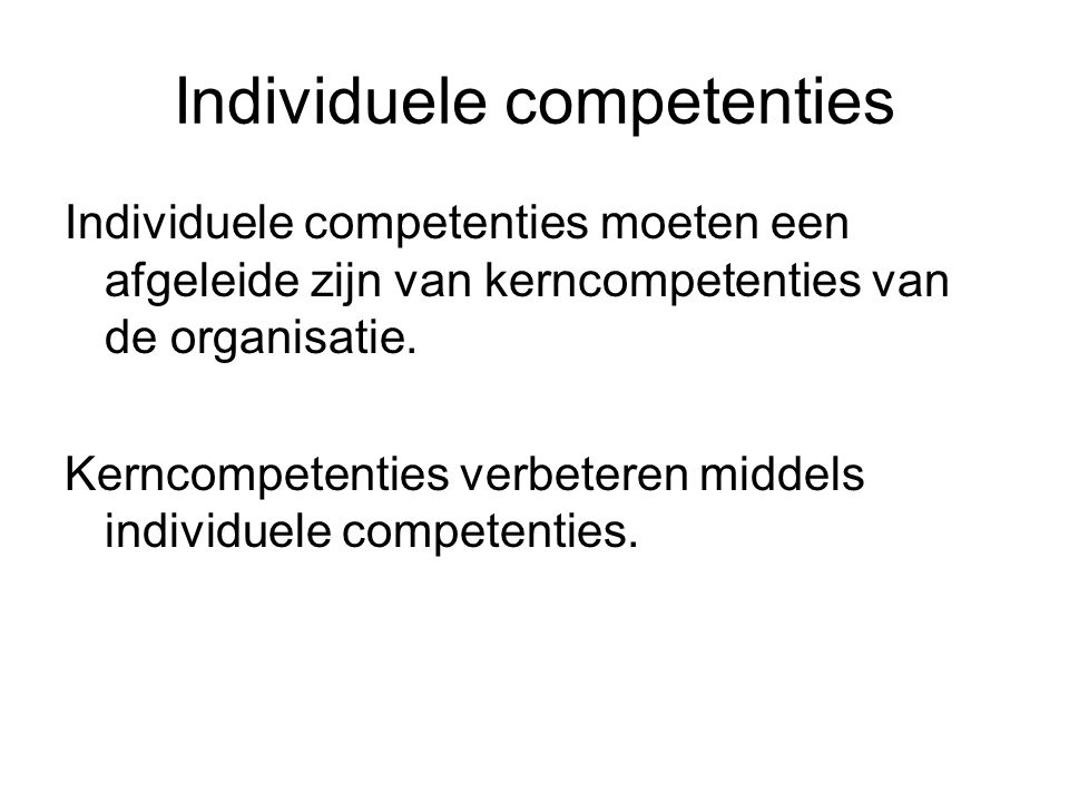 Individuele competenties
